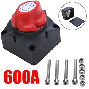 1pc 24V 600A Car Battery Isolator Main Battery Switch Emergency Stop Pole Disconnect Separator Switch for RV Boat 68 * 68 * 74mm T200605