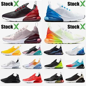 2019 nike air max airmax 270 27c zapatillas para hombre bred Volt Black Gradient hot punch Regency Purple photo blue SE Floral chaussures desinger sneaker trainer 36-45