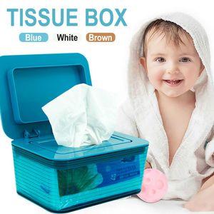 Dry Wet Tissue Paper Case Baby Wipes Napkin Seal Plastic Desktop Storage Box Home Tissue Container