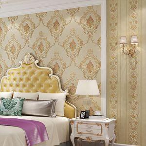 3D em relevo delicado papel de parede DIY pastoral versão européia requintado jardim de flores não-tecido wallpaper casa quarto casamento da princesa AB