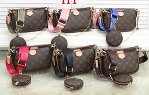 favorite multi pochette accessories designer luxury handbag purse leather L flower shoulder crossbody bag ladies purses 3 pcs purse
