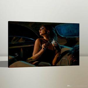 vA. Fabian Perez Glamour alta qualidade pintado à mão HD Imprimir Figura Retrato Pintura a Óleo Art On p29 Canvas Wall Art Home Office Deco
