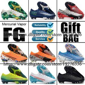 2020 Mercurial Dämpfe 13 XIII 12 XII Elite FG Fußball-Fußball-Schuhe CR7 Cristiano Ronaldo Neymar Mbappe für Männer Fußball lädt Fußball Klampen