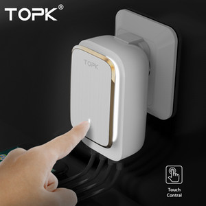 Topk L-power 4-port Eu / us / uk / au Plug 22 w Carregador Usb Carregador de Lâmpada Auto-id Adaptador de Viagem de Parede Universal Carregador de Telefone Celular T190627