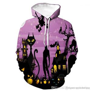 Hooded Couples Sweatshirts Festival Special Male Clothing Pumpkin 3D Print Mens Hoodies Designer Halloween Long Sleeve