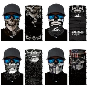Ice Silk Magic Skull Scarf Men Women Outdoor High Fishing Face Towel Thin Section Elasticity Quick Dry Sunscreen Collar Riding Mask#390