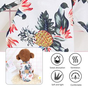 Pet Dog Hawaiian Shirt Beach Clothes Vest Floral Printed Tops For Small Large Dogs