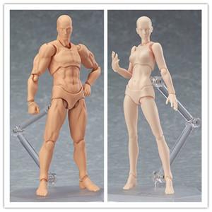 Doub K Figura de Ação Brinquedos Artista Membros Movable Masculino Feminino 13 cm corpo articulado Modelo Manequim bjd Art Sketch Desenhar Figuras novo estilo