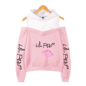 Lil Peep off-the-spalla Hoody Donne Nuovo Emo Rapper Cry Baby Gedrukt Felpa Maten Voor Fashion Casual Felpa pullover