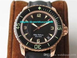 Principais ZF Cinqüenta Fathoms 5015 3630 52 Mens Watch Rose Gold Swiss 1315 Movimento automático 28800vph cristal de safira Resistência à Água 50M