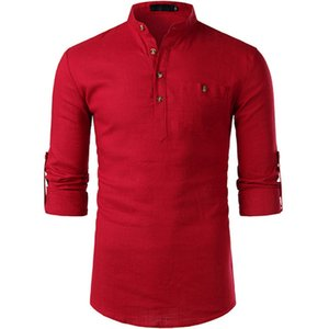 Mens Designer Shirts Lapel Neck Solid Mens Long Sleeve Tops With Pockets Fashion Male Casual Clothing