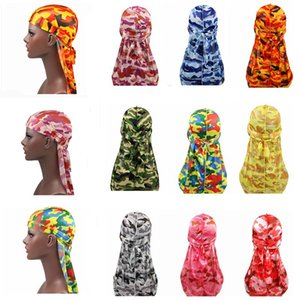 marca Durags Diseñador Durag Hombres Turbante Pañuelo de Headwear de la venda del headwrap del pirata gorra para hombre del motorista capsula los sombreros Accesorios para el cabello