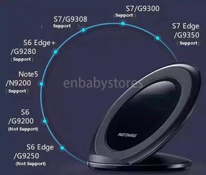 Ladegerät Original-schnelle drahtlose Qi Schnelllade Pad Stand-Halter für Samsung Galaxy S9 Plus-S10 Hinweis 8 9 Iphone Xs Huawei Chargeur