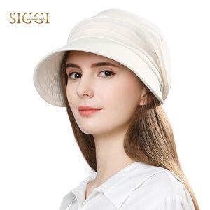 FANCET Women Summer Sun Hat Visor Linen Bucket Caps Packable Wide Brim UPF50+ UB Cap Windproof Chin Strap Fashion 89033 Y200602