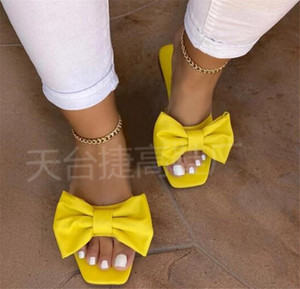 Hot Ladies Slippers Flat Bow Sandals Casual Beach Shoes PH-CFY20061839