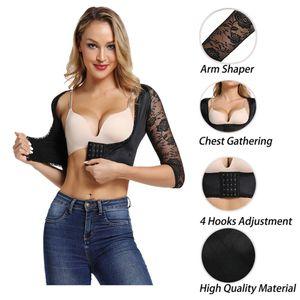 Kol Shaper Geri Duruş Düzeltici Kadın Dantel ince Taraflar Butt kaldırıcı Korse Vücut Düzeltici Mahsul Shaper En Bluz kol