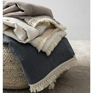 Nordic INS wind cotton gauze towel quilt knitted thread blanket wool yarn siesta blanket summer thin bed cover quilt LB62706