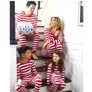 Familia Christmas Matching pijamas pijama de rayas ropa de noche de Navidad Conjuntos de ropa de dormir Reino Unido
