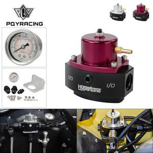 PQY 12-880 E85 Volver compatible ajustable Estilo regulador de presión de aluminio del billete de derivación de combustible con AN6 * 1 * 2 guarniciones AN8