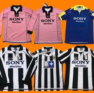 Tailandia 97 98 999 Juventus retro camisa de camisetas de fútbol ZIDANE de fútbol 1997 1998 1999 2000 DEL PIERO Jersey Davids clásico maillot de pie