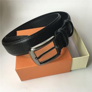 Cinturón de alta calidad mujeres de los hombres cinturón de cuero genuinos de las correas de cintura de los pantalones Oro Negro Plata Smooth hebilla