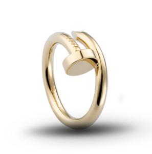 Couple mode cuivre clou anneau concepteur anneau hip hop créatif bijoux casual hommes d'engagement de cadeau d'anniversaire