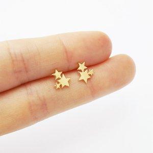 Jewelry & Accessories Fashion Stud Earrings for Women Girl Feamale Mixed 8 Style Star Dinosaur Crown Love Heart Rose Flowers Leaf Earring