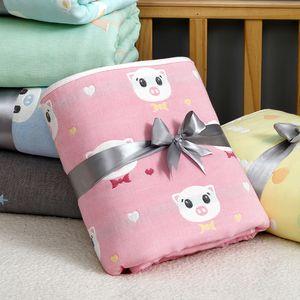 Newborn Blanket Bath Towel Soft Swaddling Baby Bedding Set Cotton Infant Wrap Quilt 6 layer Gauze For 0-4Years