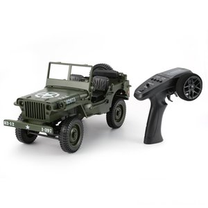 C606 1:10 RC Car 2.4G 4WD Convertible Remote Control Light Jeep Four-Wheel Drive Off-Road Military Climbing Car Toy Kid Parts & Accessories