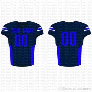 2019 New Custom Football Jersey alta qualidade Mens frete grátis bordado Logos 100% superior costurado venda D30