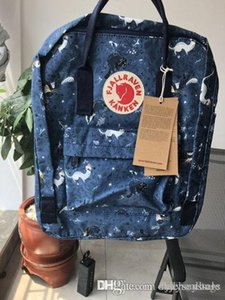 Fjallraven Kanken Camouflage Blue Backpacks Waterproof Universal Canvas Bags New Style Computer Bags Sports Bags Large Capacity Outlet