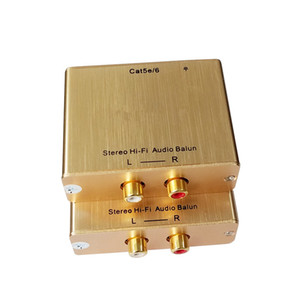 Freeshipping Cat5 ses Extender RCA Sol / Sağ Ses Extender Üzeri Cat5e / 6 Kablo Ses üzerinde Ethernet