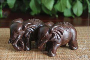2 pezzi di legno intaglio artigianato RawDenim Elephant 6cm ornamenti in legno manufatti per l'arredamento