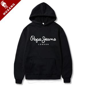 Lovers Marke Hoodies Marken-Männer Lustige Druck Sweatshirt Male Hoodie Hip Hop-Herbst-Winter Hoodie Moletom Herren Pepe Jeans London H520A