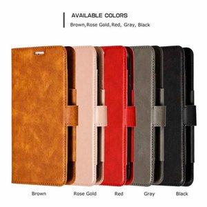 Monedero de cuero desmontable de la vendimia para samsung s10 s10e plus a70 a50 a40 case retro magnético extraíble 2in1 hebilla cubierta de la tarjeta de identificación ID ranura