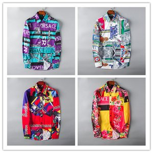 2019 бренд мужской бизнес повседневная рубашка мужчины с длинным рукавом в полоску slim fit masculina социальные мужские футболки новая мода человек проверил # 6806 рубашка