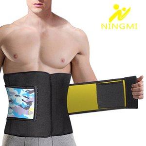 NINGMI abdominale Ceinture pour Hommes taille Entraîneur en néoprène Sauna Body Shaper Taille Minceur Cincher Corset Fajas amincissants Sport Top