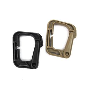 Hızlı Asılı Dağcılık Toka Anahtarlıklar Ağız Şekli Taktik Tırmanma Carabiner Anahtarlıklar Plastik Çelik D Tokaları Fit Asılı Çanta 1dt E1
