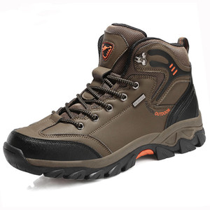 Autumn Winter Work Boots Men Outdoor Waterproof Boots Sneakers Ankle Working Boots Footwear Mens Shoes Wide