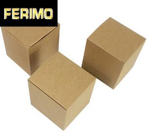 5pcs Small Size Kraft Gift Box Creme Jar Garrafa Embalagem Brown caixas de papel DIY Praça Handmade Soap Box Cardboard Vela
