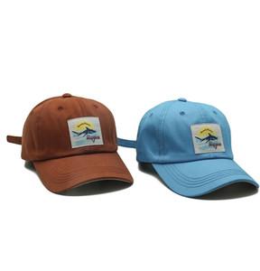 Mode Shark Patch-Baseballmütze Männer und Frauen Freizeit Outdoor Sports Hut Bequeme Sonnenschutz Waschschirmmütze 4 Farben geben Shipiing