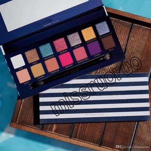 2019 NEW Brand makeup palettes RIVIERA 14 colors Eyeshadows palettes Shimmer Matte Eye shadow soft novina modernprim beauty palette