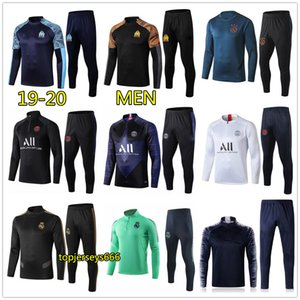 19 20 uomini Real madrid psg soccer tracksuit tuta da calcio 2019 2020 tuta PSG MBAPPE football training jogging