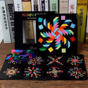 Çocuk Öğrenme Oyuncak Y200421 İçin Çocuk Çocuk Tangram Ahşap Ağaç Montessori Eğitim Oyuncaklar İçin Gökkuşağı manyetik Puzzle