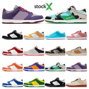 Hot Dunk Low Ben Jerrys Chunky Dunky mens running shoes Panda Pigeon Kentucky Syracuse Safari Valentine women sport sneakers Fashion