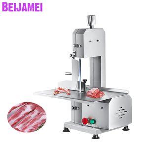 BEIJAMEI Фабрика Bone Раскрой машина Коммерческая косторезное 220 мороженой рыбы / Говядина Мясо Cutter пила машина