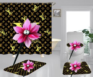 Ouro Letters Cortina Mat preto moderno Tapete Homens e mulheres retro Imprimir blindex Cortina Vintage quarto decorar Curtain