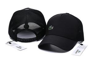 Sombrero de cocodrilo de malla Gorras de béisbol deportivas clásicas Gorra de golf de alta calidad Gorra de sol Casquette para hombres y mujeres Gorra ajustable de hueso de espaldar