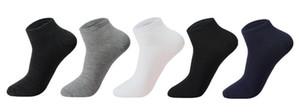 5pairs / lot de los hombres calcetines de algodón grande size39-48 alta calidad ocasionales respirables Barco calcetín corto de hombres Busines Hombre Calcetines verano