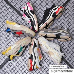 Fashion Paris 17FW Triple-S 2019 Triple S Sneaker Desi Dad Shoes for Men's Women Beige Black Sports Casual Shoes 36-45
